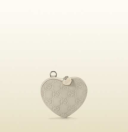 Gucci heart-shaped coin purse