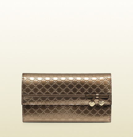 Gucci shiny microguccissima leather continental wallet