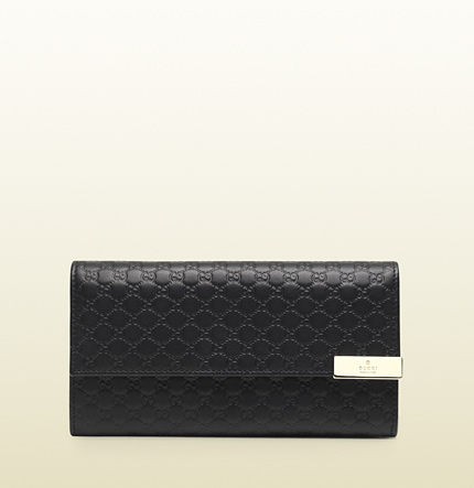 Gucci microguccissima leather continental wallet