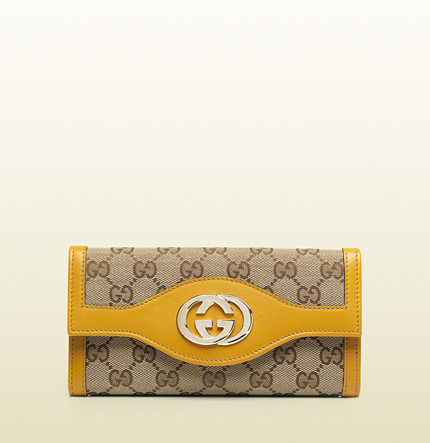 Gucci sukey original GG canvas continental wallet