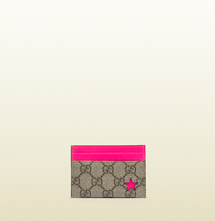 Gucci GG supreme canvas card case