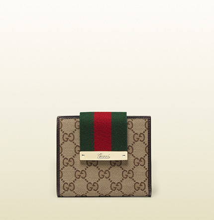 Gucci original GG canvas wallet