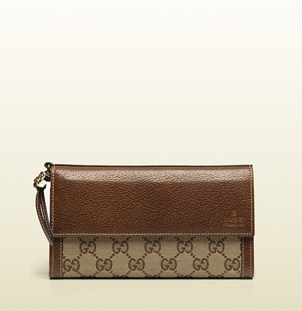Gucci bree original gg canvas continental wallet