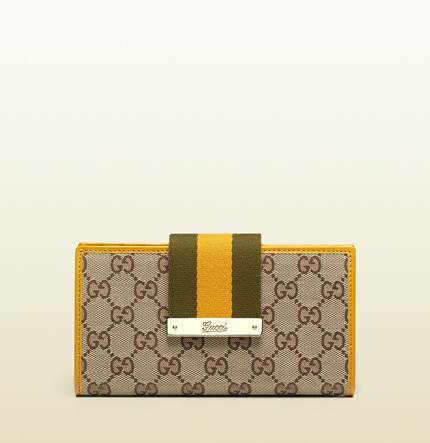Gucci original GG canvas continental wallet