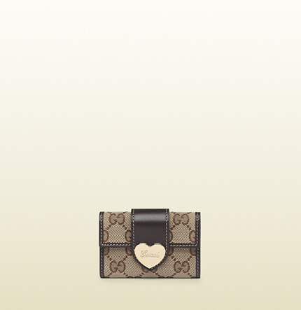 Gucci heart key case