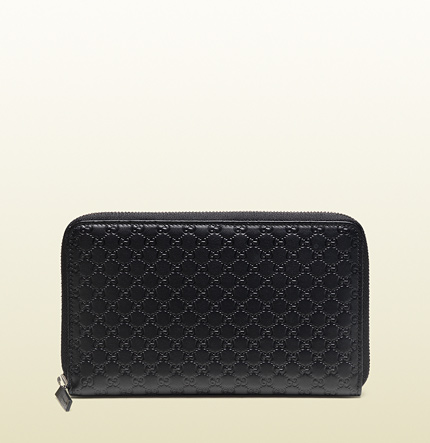 Gucci microguccissima leather zip around wallet
