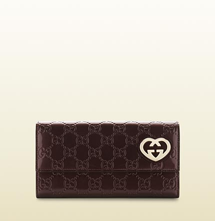 Gucci heart-shaped interlocking G continental wallet