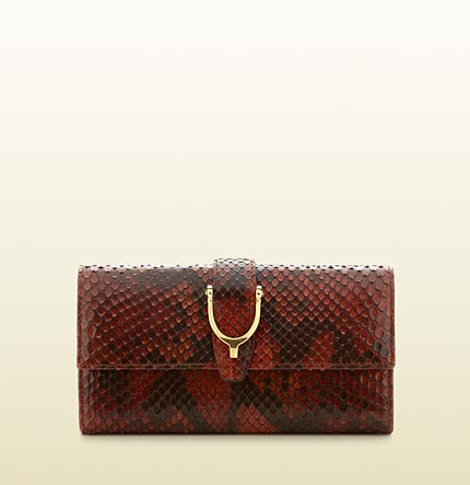 Gucci spur detail continental wallet