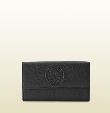 Gucci soho leather continental wallet