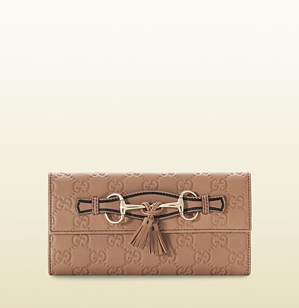 Gucci tassel and horsebit continental wallet
