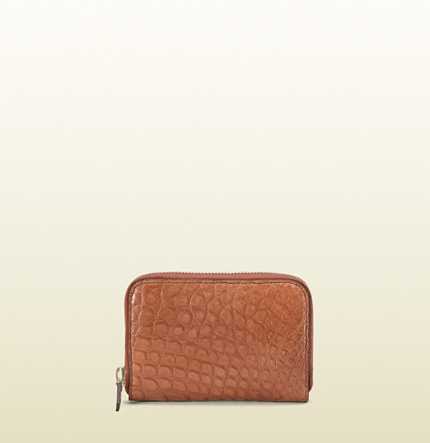 Gucci card case with coin pocket.