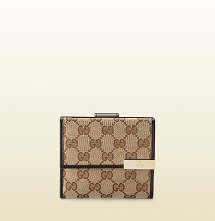 Gucci gucci trademark flap french wallet