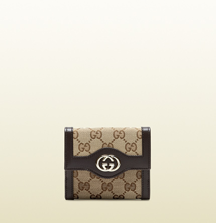 Gucci sukey original GG canvas french flap wallet