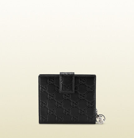 Gucci flap french with interlocking G detail.