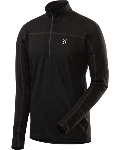 HAGLOFS MEN ACTIVES MERINO ZIP TOP black