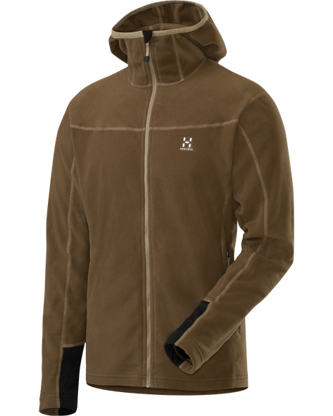 HAGLOFS MEN MICRO ZIP HOOD bracken