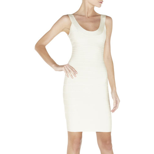 HERVE LEGER SYDNEY SIGNATURE BANDAGE DRESS PAPYRUS