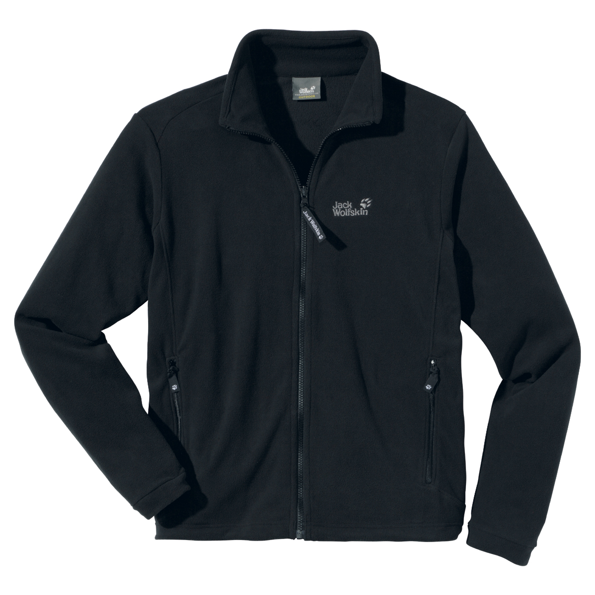 JACK WOLFSKIN MEN ATMOSPHERE FULL ZIP BLACK