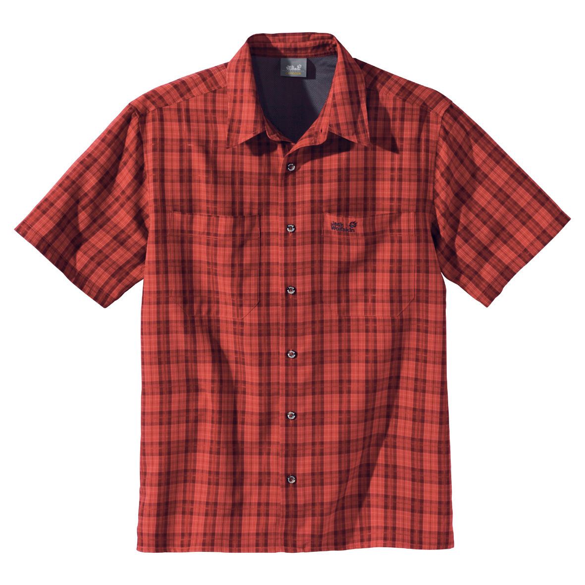 JACK WOLFSKIN MEN DIAMOND BAY MOSQUITO SHIRT SPICY MEXICAN CHECKS