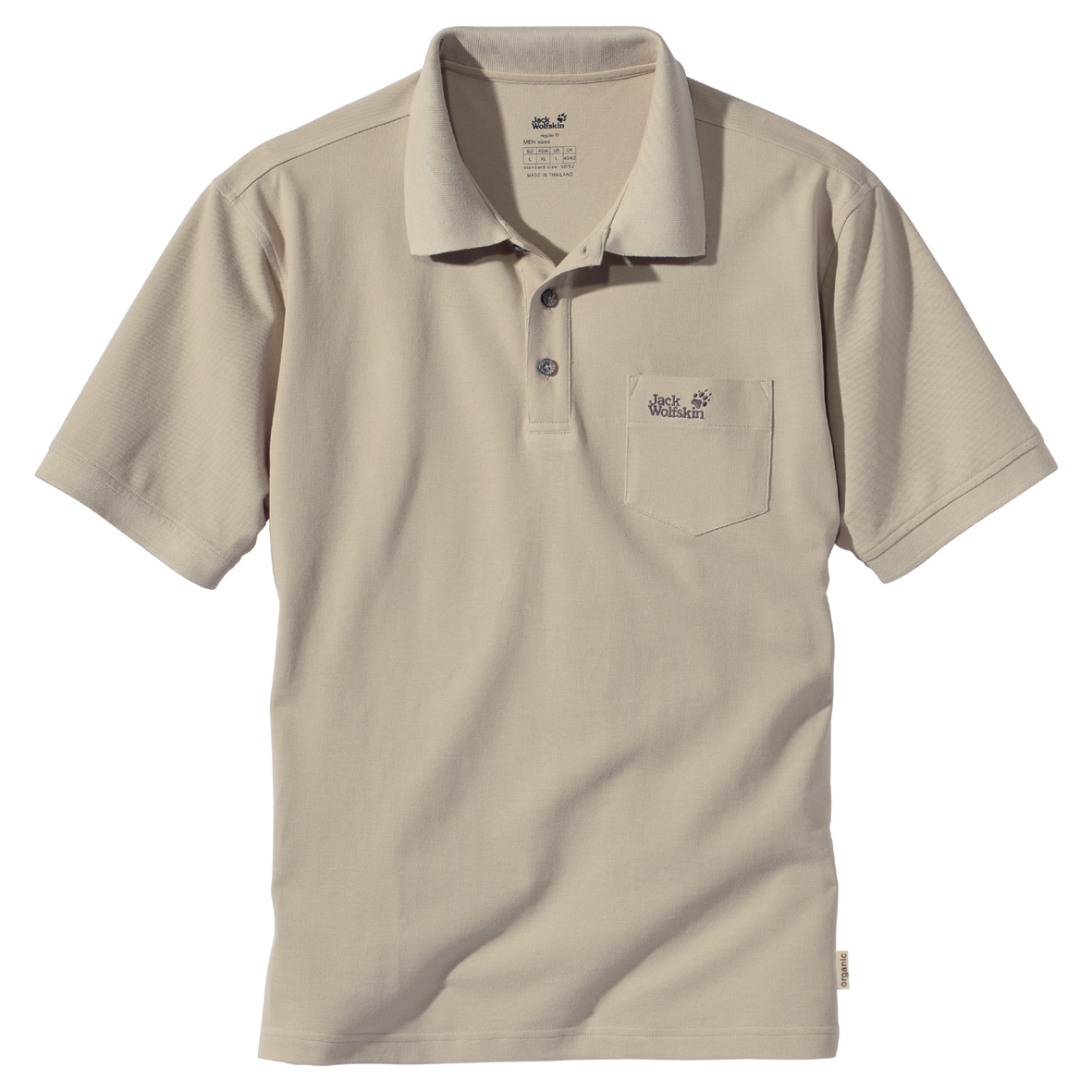 JACK WOLFSKIN MEN POLO SHIRT PURE SANDS