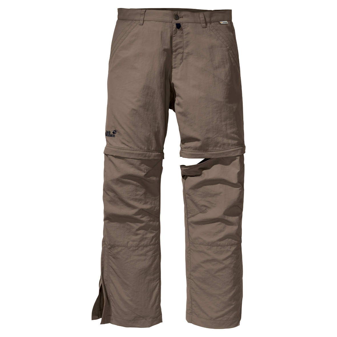 JACK WOLFSKIN MEN CANYON ZIP OFF PANTS SILVER MINK