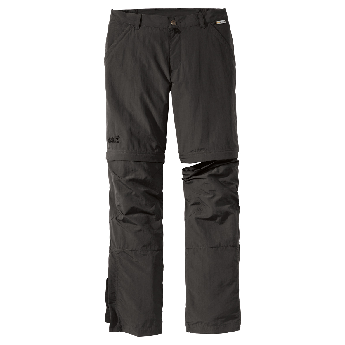 JACK WOLFSKIN MEN CANYON ZIP OFF PANTS OLIVE BROWN