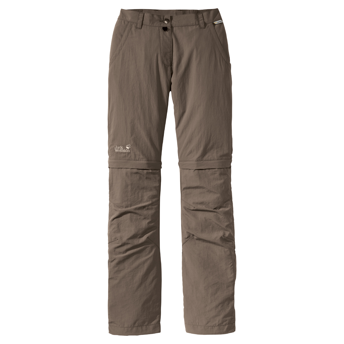 JACK WOLFSKIN WOMEN CANYON ZIP OFF PANTS SILVER MINK
