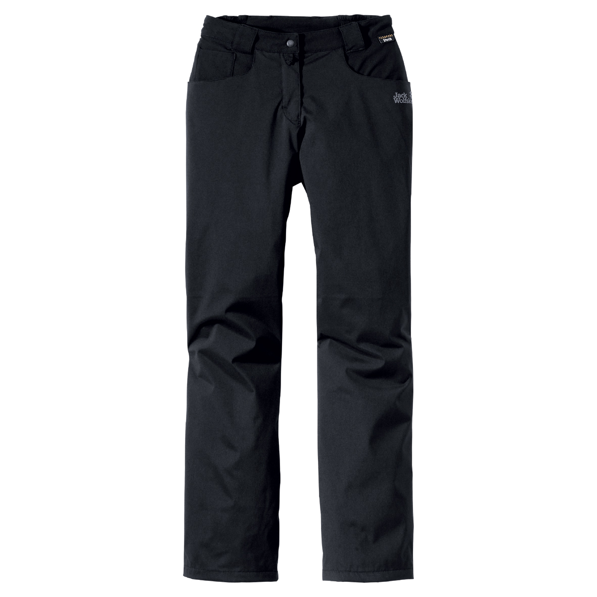 JACK WOLFSKIN WOMEN HIGHLAND FLEX PANTS BLACK