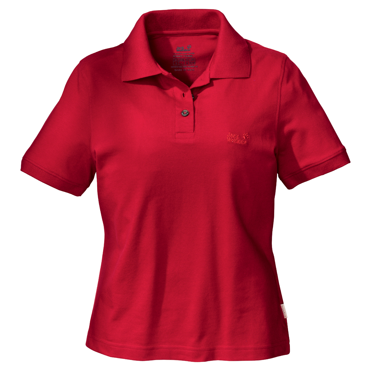 JACK WOLFSKIN WOMEN POLO SHIRT TANGO RED