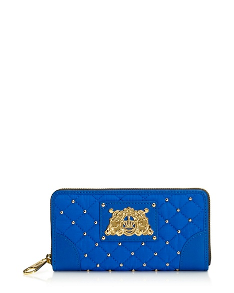 JUICY COUTURE WALLET QUILTED NYLON CONTINENTAL ZIP Zuma