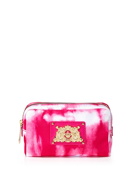 JUICY COUTURE CASE NYLON COSMETIC Tie Dye Pink
