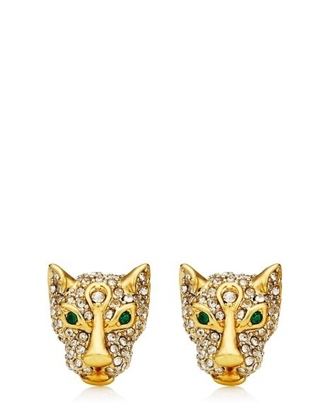 JUICY COUTURE EARRING PAVE LEOPARD STUD Gold