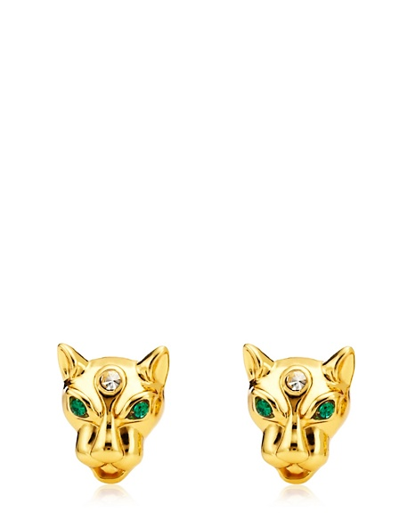 JUICY COUTURE EARRING LEOPARD STUD Gold