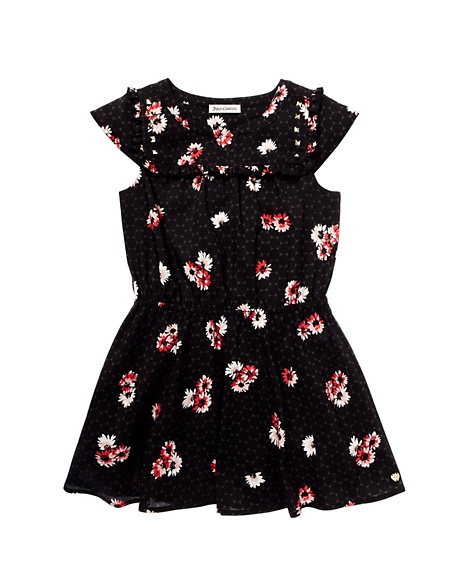JUICY COUTURE DRESS GIRLS DAISY CLUSTER Daisy Black