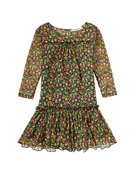 JUICY COUTURE DRESS GIRLS PRINTED MESH Fragrant Rose