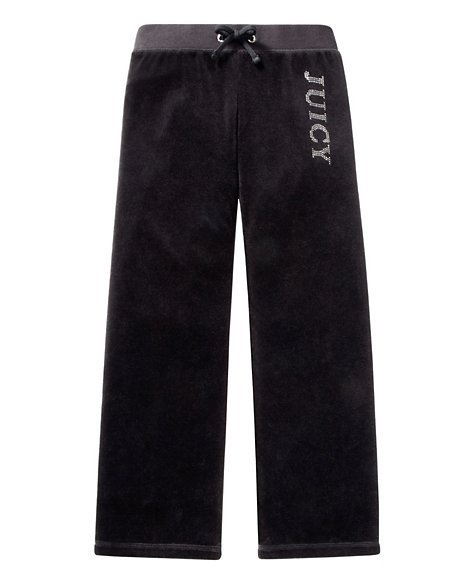 JUICY COUTURE PANT GIRLS ORIGINAL IN SCOTTIE VELOUR Black