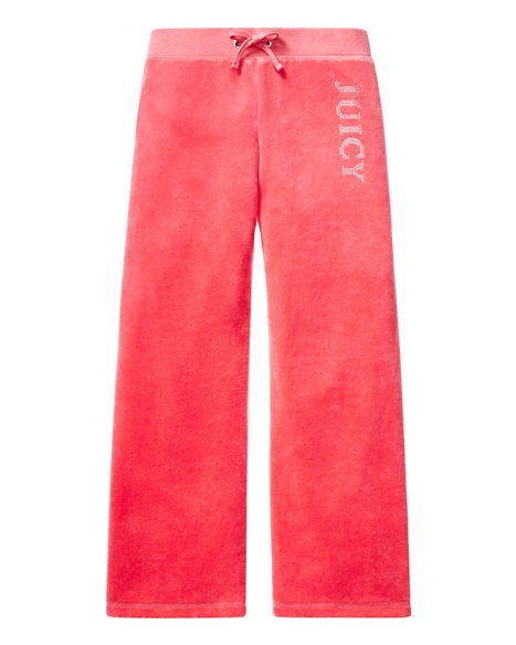 JUICY COUTURE PANT GIRLS ORIGINAL IN SCOTTIE VELOUR Geranium