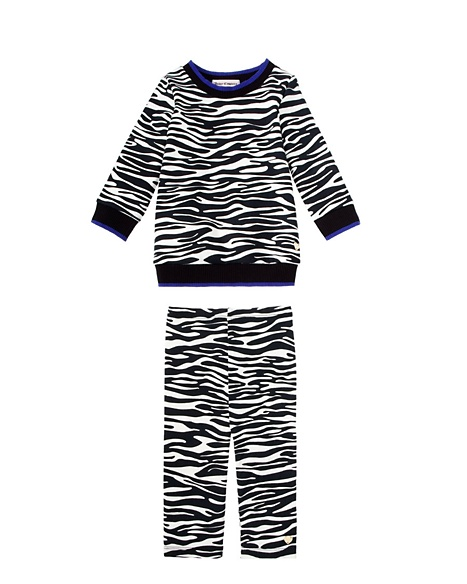 JUICY COUTURE ZEBRA PRINT FRENCH TERRY TOP AND BOTTOM Zebra Print