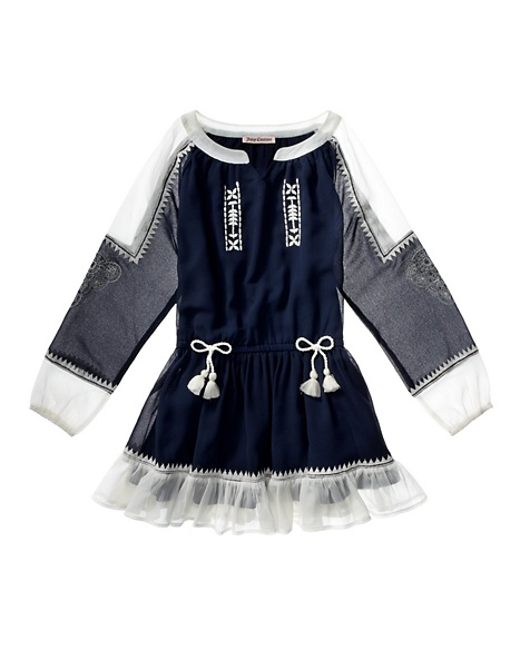 JUICY COUTURE DRESS GIRLS BOHO Regal/Angel