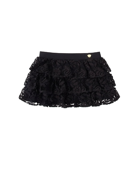 JUICY COUTURE SKIRT JERSEY MULTI RUFFLE Black