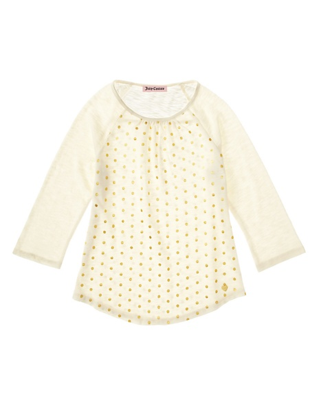 JUICY COUTURE GIRLS METALLIC DOT TOP Angel