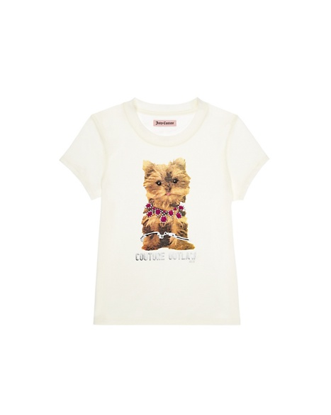JUICY COUTURE GIRLS PUPPY COUTURE TEE Angel