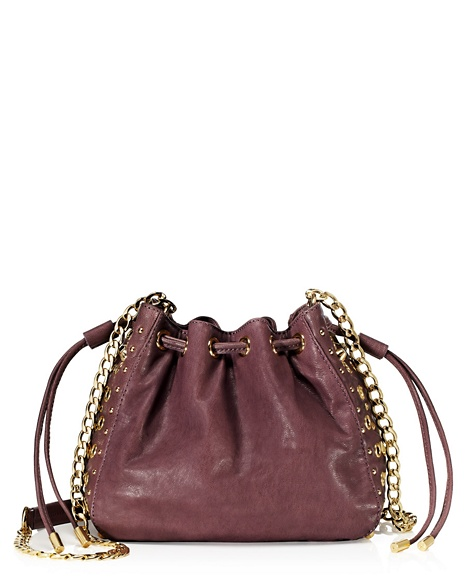 JUICY COUTURE BAG BEDFORD LEATHER MINI BUCKET Dusty Stone
