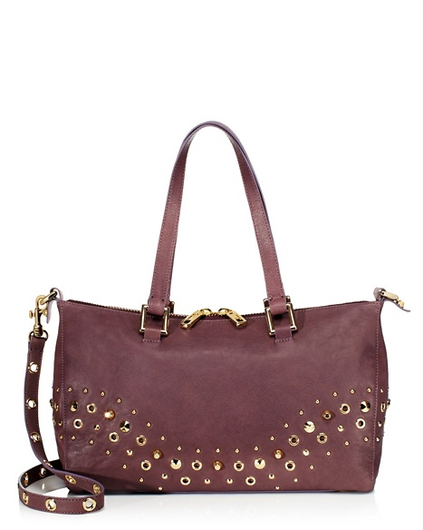 JUICY COUTURE SATCHEL BEDFORD LEATHER Dusty Stone