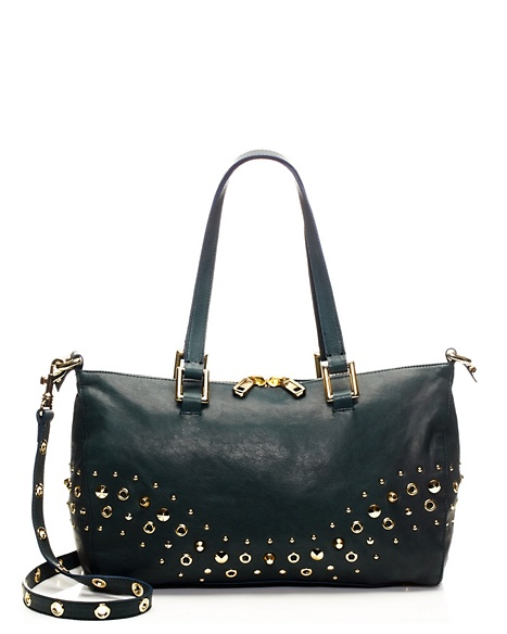 JUICY COUTURE SATCHEL BEDFORD LEATHER Teal