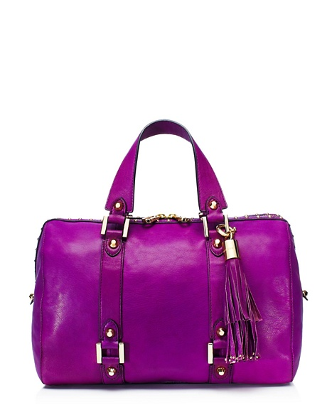 JUICY COUTURE LUXE LEATHER STEFFY Purple