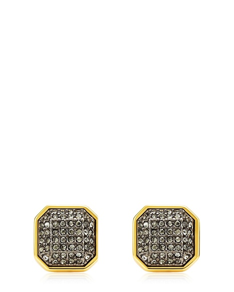 JUICY COUTURE EARRING PAVE OCTAGON STUD Gold