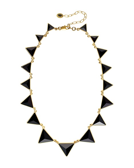 JUICY COUTURE NECKLACE PYRAMID Black Gold