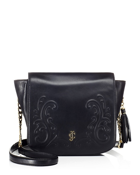 JUICY COUTURE BAG OLVERA LEATHER SHOULDER Black