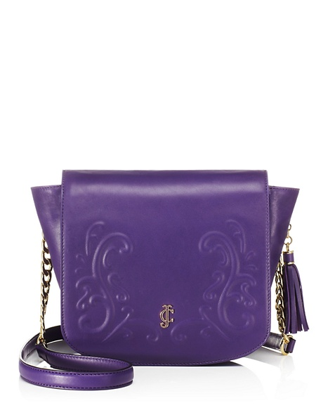 JUICY COUTURE BAG OLVERA LEATHER SHOULDER Plum